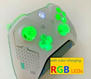 Limited Edition Sport White Xbox One Controller w LED MOD PC iPhone Android