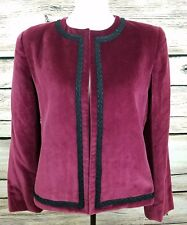 Vintage LOMBARDI INC Velvet Jacket/Blazer Lined Size 12 Made in Hartford, Ct