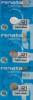 3 x Renata 321 Watch Batteries, SR616SW Battery | Shipped from USA