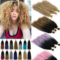Braids Braiding Crochet Water Wave Hair Extensions Ombre mix Remy Thick Curly US