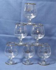 6 x Vintage Balloon Style 'NAPOLEON' Brandy Stem Cognac Snifter Glasses ~ 9.5cm