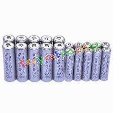 10 Aa 3000 Mah + 10 Aaa 1800mah 1.2 v Ni-mh Batería Recargable De 2a 3a Gris Celular