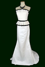 NEW JOVANI 158063 Authentic White Strapless Evening Gown Bridal Pageant Dress 10