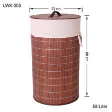 bambou Panier à Linge Boîte à vêtements Coffre à Linge Sac à vêtements lwk005