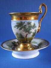 Antique Old Paris Porcelain (Vieux Paris) Cabinet Cup & Saucer !