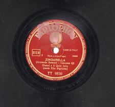 GIANNI e QUIN JOLLY canta ELIO BIGLIOTTO disco 78 g  ZINGARELLA stampa ITALIANA