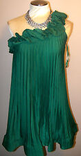 BCBG MAXAZRIA -sz S -CECE BEAUTIFUL ONE SHOULDER GREEN DRESS-NWT
