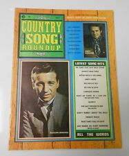 1971 Country Music Song Roundup WAYLON JENNINGS Mearle Haggard Cover FN+