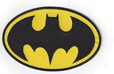 GIANT 6 INCH X 4 INCH  BATMAN LOGO IRON ON PATCH