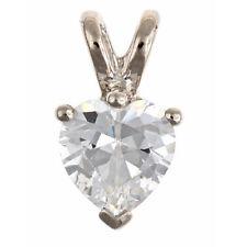 Cubic Zirconia Heart Pendant 6mm Sterling Silver