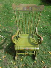 19th c, Pennsylvania Painted  Rocker, hand decorated.