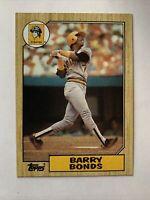 1987 Topps Barry Bonds Pittsburgh Pirates #320 Baseball Card