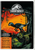 Jurassic World : 5-Movie Collection (DVD, 5-Disc Set) New & Sealed Fast Shipping