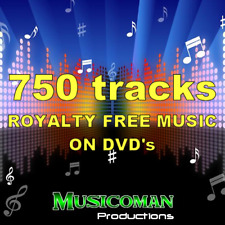 750 ROYALTY FREE MUSIC TRACKS ON DVD'S - MANY STYLE FOR MEDIA PROJECTS, YOU YUBE