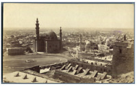 Egypte, Caire (القاهرة), Panorama de Caire  vintage albumen print Tirage album
