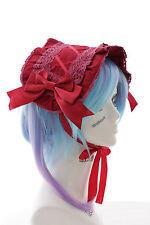LH-05-2 Rot Schleife Maid Haarband Kopfschmuck Gothic Lolita Headband Cosplay