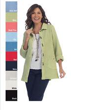 NEW- Focus Fashion Women's Cotton Waffle Jacket-BW108