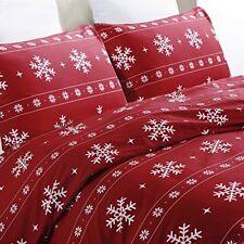 Lightweight Microfiber Duvet Cover Set, Snowflake Pattern (King Size)