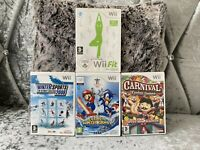 Nintendo WII Games Bundle X4 Mario Sonic Olympic Carnival Winter Sports WII Fit