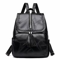 Fashion Women Girl Backpack Travel Black PU Leather Handbag Shoulder Bag Gift