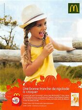 Publicité Advertising 2011 - Mac Donald (Advertising paper)