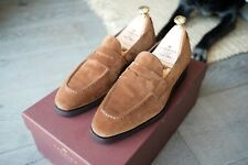 CARMINA Simpson Snuff Suede Penny Loafer with Dainite Sole - UK 5.5