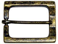 """Rectangular Heel Bar Single Prong Center Bar Belt Buckle 1-1/2"""" (38mm) wide"""