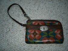Fossil Key-Per Red Green Blue Brown Fruit Wallet Organizer Phone-cover Wristlet