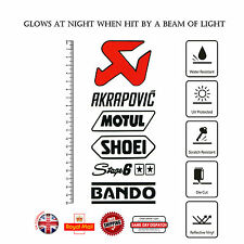 6pcs MOTUL SHOEI BANDO Stage 6 Moto GP Decal Sticker Set Reflective Vinyl F322