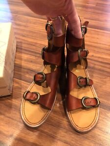 New Free People Ludlow Leather Boot Sandals sz 41 US 10