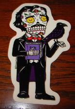 "EDGAR ALLEN POE raven Art Sticker Print 2.25 X 4"" DIA DE LOS JOSE PULIDO"