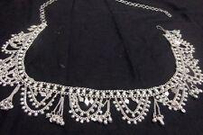Kuchi banjara silver coin Belly dance club waist Indian scarf Hip costume Belt