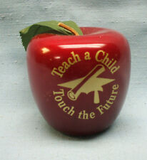solid wood red teacher apple Teach A Child Touch The Future