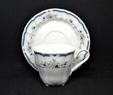 Nikko China Fascination Cup and Saucer Floral Blue White