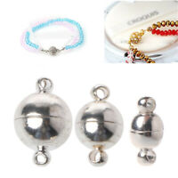 10pcs/lot Strong Magnetic Stainless Steel Ball Clasps DIY Jewelry Making Sliver