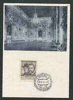 CSSR MK 1948 KROMERIZ MAXIMUMKARTE CARTE MAXIMUM CARD MC CM d4343
