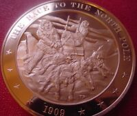 +1909 The Race to the North Pole - Franklin Mint Solid Bronze Medal
