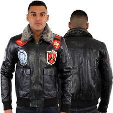 Cappotti e giacche da uomo militare in pelle