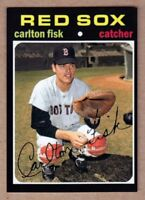 Carlton Fisk Boston Red Sox custom card by Bob Lemke '71 style #753 🔥