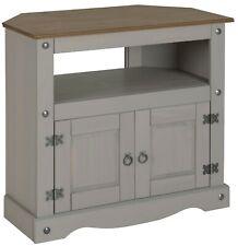 Corona TV Unit Corner Grey Wax Living Room Solid Pine by Mercers Furniture®