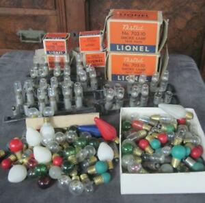 Small Lot of Vintage Lionel Train Light Bulbs Boxed and Loose