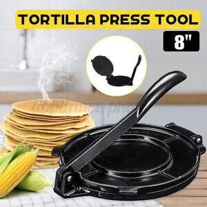 "8"" Cast Iron Tortilla Press Maker Flat Surface Flour Corn Flatbread Baking Tools"