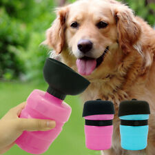 Dog Bowl Water Bottle Travel Dispenser Portable Leakproof Rubber Drinking Feeder