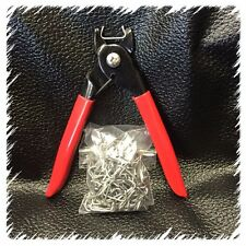 """Hog Ring Pliers (Lg) and 200 Hog Rings 3/4"""" Seat Covers Upholstery Fences Cages"""