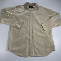 Eddie Bauer Button Up Shirt Adult Medium Brown Plaid Casual Long Sleeve Mens