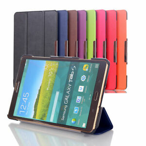 """SMART THIN LEATHER CASE COVER FOR SAMSUNG GALAXY 8"""" 10"""" TABLETS"""