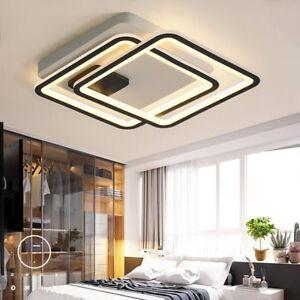 LED Chandelier For Living Study Room Bedroom Square Aluminum Modern Hang Fixture