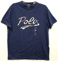 Polo Ralph Lauren Mens Blue Polo Logo Cotton Crewneck T-Shirt NWT Size M