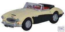 76AH3003 Oxford Diecast Austin-Healey 3000 Ivory White/Black 1/76 Scale OO Gauge