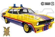 Mad Max Yellow Interceptor / Pursuit Big Bopper movie car  - XX Large Sticker